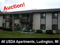 Real Estate Auction - USDA Apartment Complex, 48 Units, Government Owned - 906 N. Washington Ave., Ludington, MI  49431 - Interstate Auction Co.